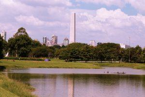 Parque Ibirapuera na cidade de São Paulo